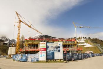 Die Arbeiten am Kaprun Center laufen bereits auf Hochtouren.