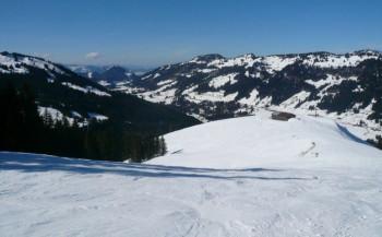 Tolle Abfahrten und super Aussicht am Hochschelpen in Balderschwang.