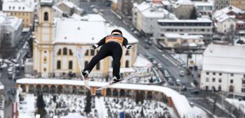 Mitten in Innsbruck liegt die dritte Schanze der Tournee.