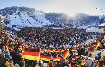 Das größte Stadion der Vierschanzentournee in Garmisch-Partenkirchen ist Garant für tolle Stimmung zum Neujahrsspringen