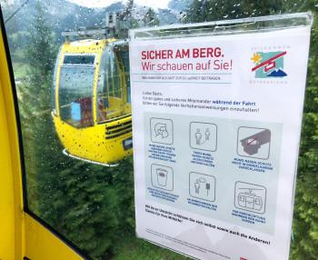 Der Sommerbetrieb der Bergbahnen läuft bereits mit entsprechenden Sicherheitsvorkehrungen.