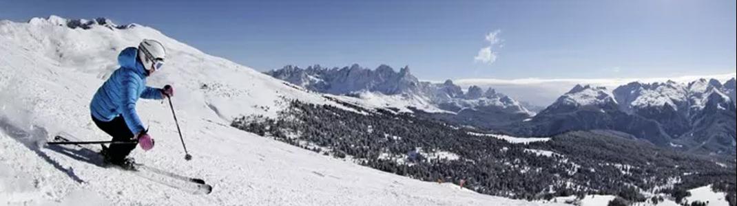 Die Skigebiete im Val di Fassa locken mit traumhaften Panoramen.