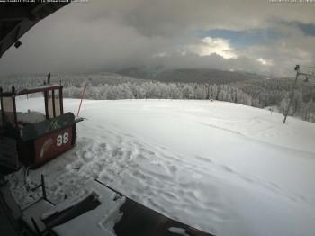 30 Zentimeter Schnee liegen aktuell am Kandel im Schwarzwald.