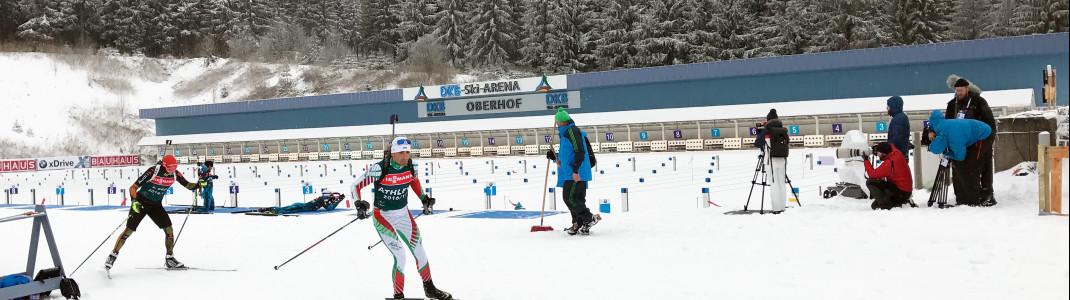 In der DKB-Skiarena in Oberhof kämpfen die besten Biathleten der Welt wieder um die Titel.