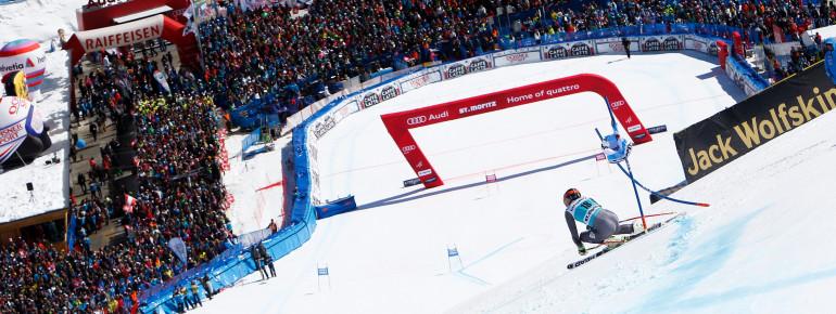 Die Weltcuprennen enden alle im Zielgelände in Salastrains.
