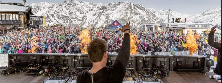 Sölden's Electric Mountain Festival means party all night long.