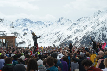 Tons of talented singers and songwriters perform during Ischgl's Top of the Mountain Concerts.