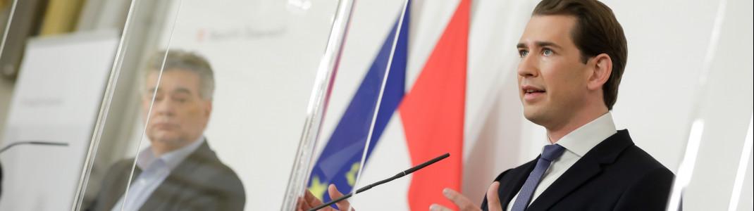 Österreich für drei Wochen im harten Lockdown: Das verkündete Bundeskanzler Sebastian Kurz am Samstagnachmittag in Wien.