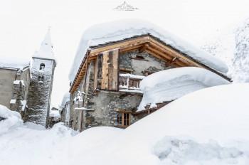 Schneemengen von weit über einen Meter werden erneut in den Südalpen - wie hier in Bonneval sur Arc - erwartet.