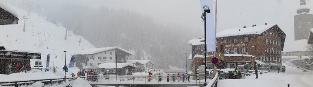 Dicke Schneeflocken werden ab Dienstag auch wieder in Lech am Arlberg vom Himmel kommen.