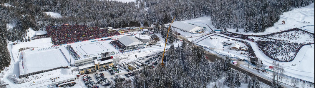 The biathlon stadium in Antholz is located about 1,600 metres above sea level.
