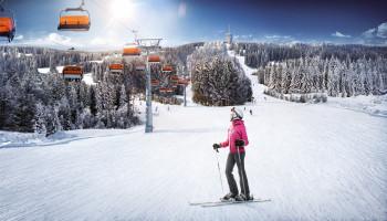 Klínovec bietet einen gemeinsamen Skipass mit dem deutschen Fichtelberg