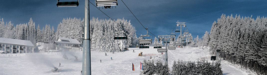 Nahezu auf Vollbetrieb läuft das Skigebiet Willingen am Karnevalswochenende.