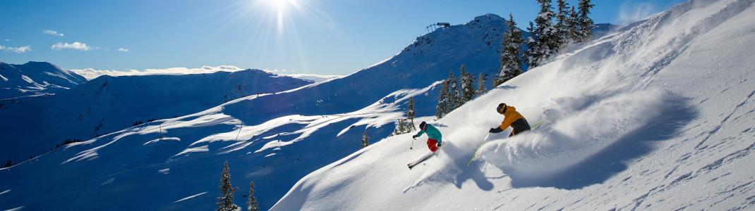 Im größten Skigebiet Kanadas sind die Möglichkeiten für Wintersportler schier unendlich.