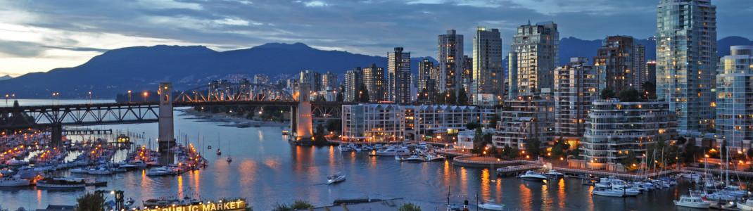 Vancouver gilt als eine der schönsten Hafenstädte weltweit.