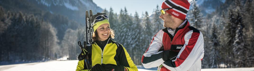Die Fuschlseeregion ist einer der Hotspots für Langläufer und Biathleten im Salzburger Land.
