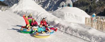 Die Gasti Schneeparks sorgen für Spaß und Action.