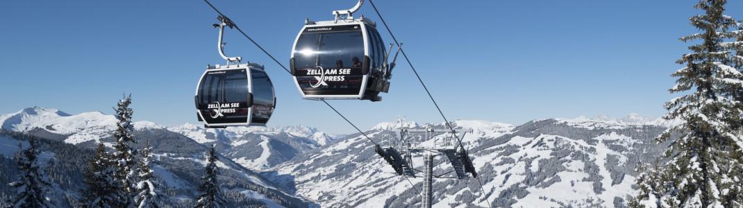Der neue zellamseeXpress bringt die Skifahrer vom Glemmtal auf die Schmitten.