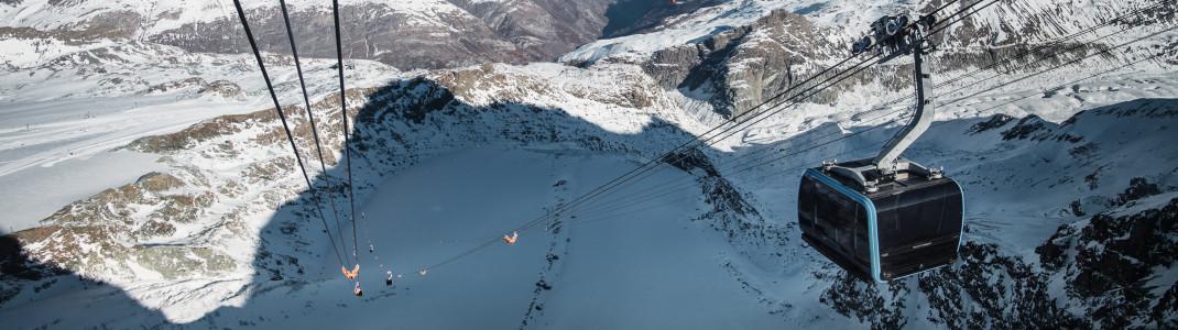 Die Kabinen in Zermatt gehören zu den modernsten weltweit.