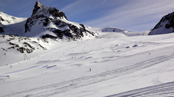 The terrain park is one of the best in the Alps.