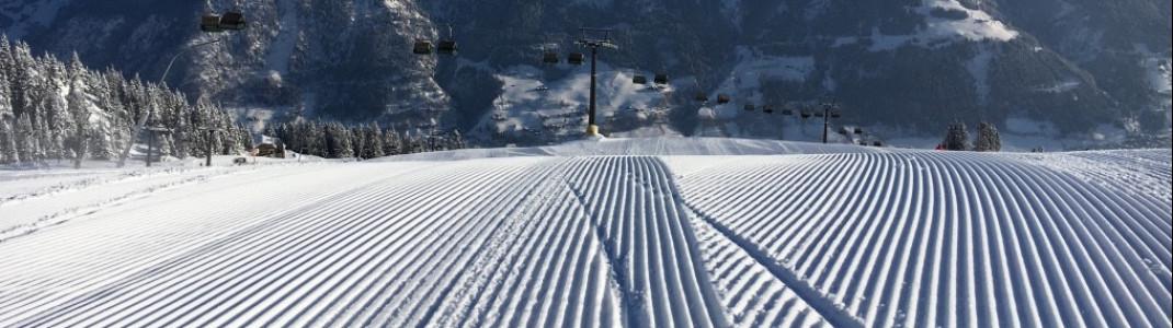 Perfekt präparierte Pisten in der Skischaukel Gastein.