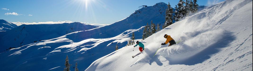 In Whistler Blackcomb, dem größten Skigebiet Kanadas, sind die Möglichkeiten für Wintersportler schier unendlich.