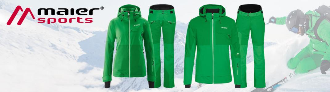 Gewinne das coole Dammkar Ski-Outfit von Maier Sports für Damen oder Herren!