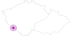 Unterkunft Gästehaus Weber im Nationalpark Böhmerwald: Position auf der Karte