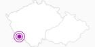 Accommodation Gästehaus Weber in the Šumava National Park: Position on map