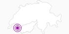 Unterkunft Hôtel des Dromonts in Portes du Soleil - Chablais: Position auf der Karte