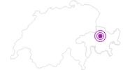 Unterkunft Mountainlodge in Arosa: Position auf der Karte