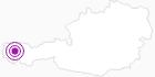 Unterkunft Gasthof Alpenrose am Arlberg: Position auf der Karte