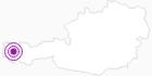 Unterkunft Gasthof Tirolerhof am Arlberg: Position auf der Karte