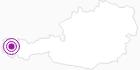 Unterkunft Haus Bommer am Arlberg: Position auf der Karte