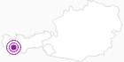 Unterkunft Hotel Garni Alpenglühn in Paznaun - Ischgl: Position auf der Karte