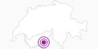 Webcam Blick vom Hannig auf Saas-Fee im Saastal: Position auf der Karte