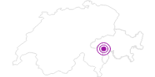 Unterkunft Gasthaus Edelweiss in Vals: Position auf der Karte