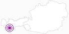 Unterkunft Alpenfrieden im Tiroler Oberland: Position auf der Karte