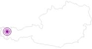 Webcam Baad Starzelhaus im Kleinwalsertal: Position auf der Karte