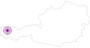 Unterkunft Sonnenbühlhütte im Kleinwalsertal: Position auf der Karte