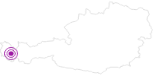 Unterkunft Haus Morscher in der Alpenregion Bludenz: Position auf der Karte