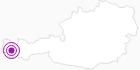 Unterkunft Jagdhaus Auerhahn in der Alpenregion Bludenz: Position auf der Karte