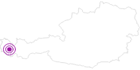 Webcam Bergstation Sessellift Riedkopf (Klösterle) in der Alpenregion Bludenz: Position auf der Karte
