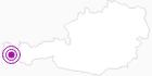 Unterkunft Pension Thöny in der Alpenregion Bludenz: Position auf der Karte