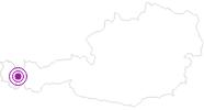 Webcam Valluga - St. Anton in der Alpenregion Bludenz: Position auf der Karte