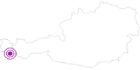 Webcam Hausberg Valülla in Montafon: Position auf der Karte