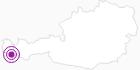 Unterkunft Jägerhüsli in Montafon: Position auf der Karte