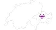 Unterkunft Hotel Touring in Arosa: Position auf der Karte