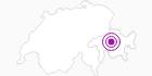 Unterkunft Hotel Crestota in Arosa: Position auf der Karte
