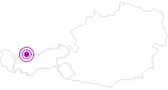 Accommodation Apart Birkenhof in the Tyrolean Zugspitz Arena: Position on map